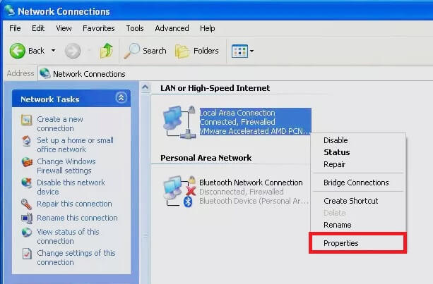 Bật Windows firewall Windows xp hình 2