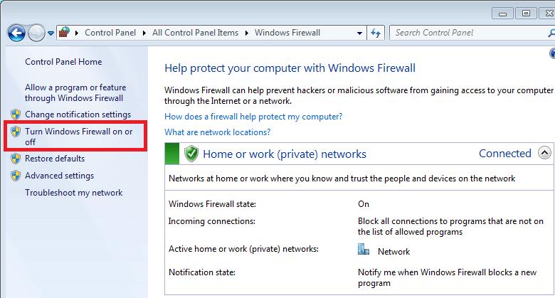 Cách bật tường lửa Windows 10 8.1 hình 1