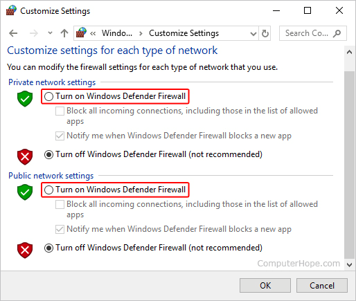 Cách bật tường lửa Windows 10 8.1 hình 2