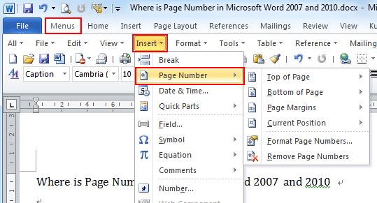 Cách đánh dấu trang trong word hình 2