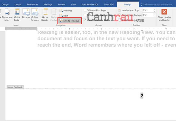 đánh số trang từ trang bất kỳ, đánh số trang trong Word theo ý muốn hình 7