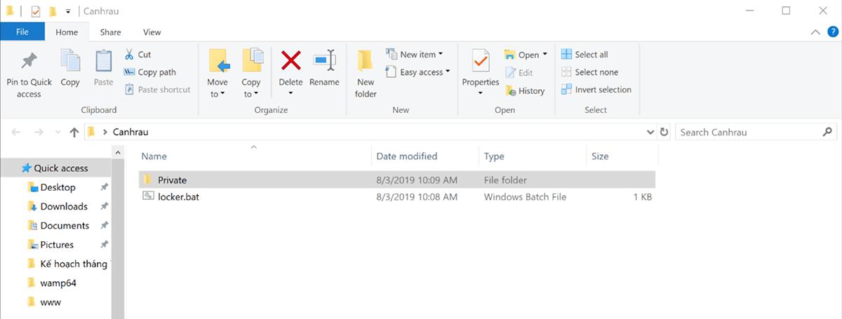 Hướng dẫn cách đặt mật khẩu cho Folder trên Windows 10 không cần phần mềm 4