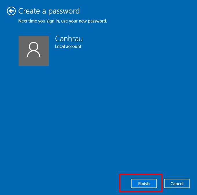 Cách cài đặt mật khẩu cho máy tính bàn hình 4