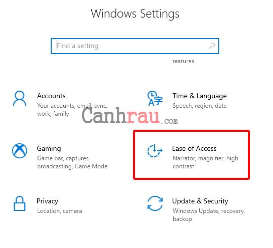 Cách mở bàn phím ảo trên máy tính Windows 10 hình 2