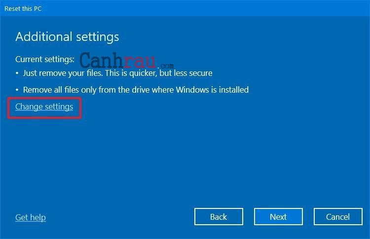 Cách reset máy tính trên Windows 10 hình 10