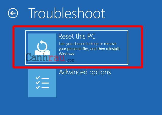 Cách reset máy tính trên Windows 10 hình 18