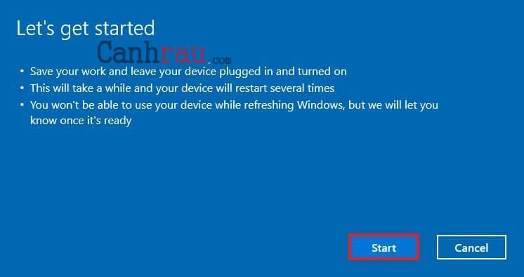 Cách reset máy tính trên Windows 10 hình 27