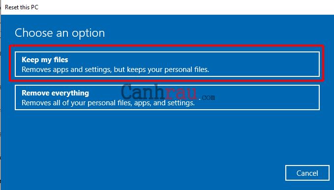 Cách reset máy tính trên Windows 10 hình 4