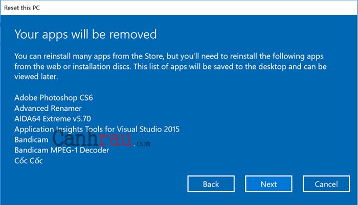 Cách reset máy tính trên Windows 10 hình 5