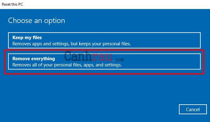 Cách reset máy tính trên Windows 10 hình 9