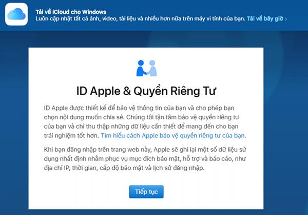 cách tạo tài khoản iCloud mới miễn phí trên web bằng PC 7