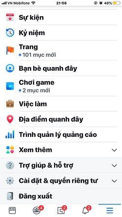 Cách tắt thông báo Facebook trên iPhone 1