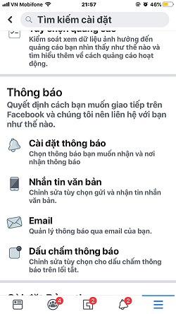 Cách tắt thông báo Facebook trên iPhone 3