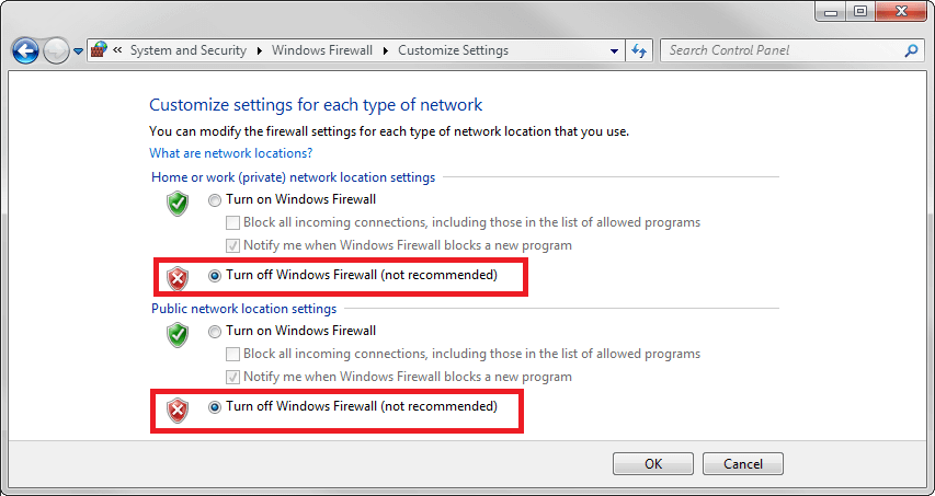 Cách tắt tường lửa Windows 7 Vista hình 2