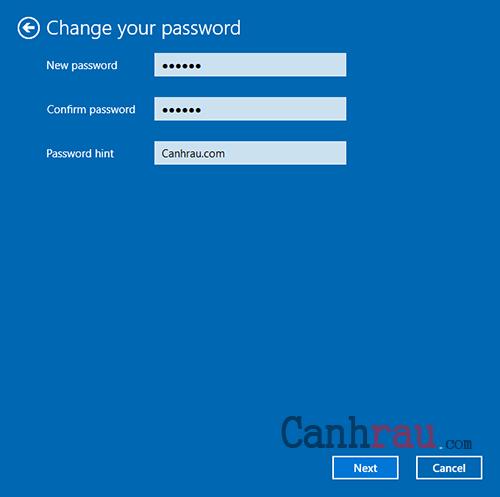 Cách thay đổi mật khẩu máy tính Win 10 hình 4