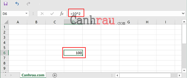 Cách tính hàm bình phương trong Excel hình 3