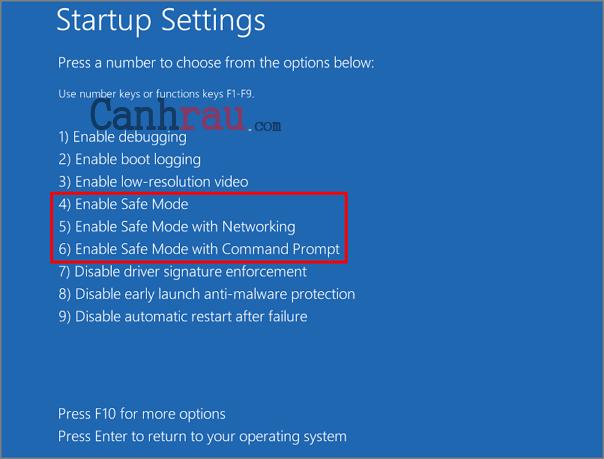Cách vào safe mode Windows 10 hình 10