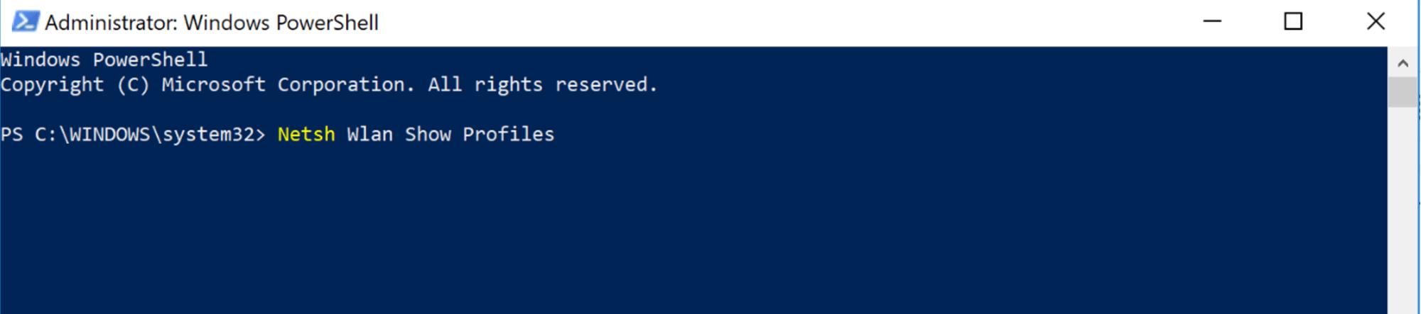 Cách xem mật khẩu Wifi bằng Command Prompt / Powershell 2