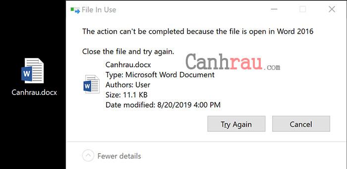 Cách xóa file cứng đầu hình 1