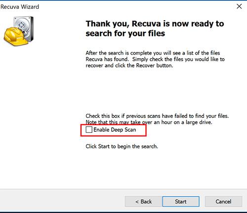 cài đặt phần mềm Recuva 3
