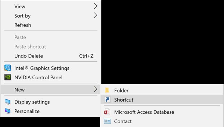 Sử dụng câu lệnh tạo Shortcut để hẹn giờ tắt máy Windows 10 1