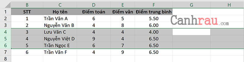 Cách chèn thêm nhiều dòng, cột bằng phím tắt trong Excel hình 5