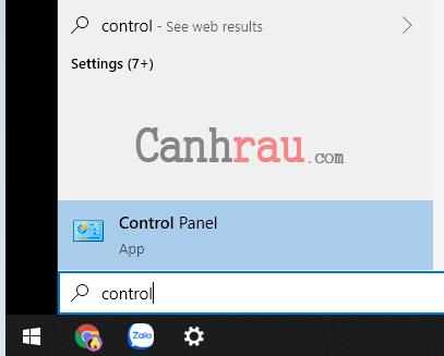 Dùng control panel xóa bản lưu hình 1