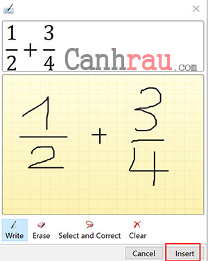 Ghi phân số trực tiếp bằng Ink Equation hình 3