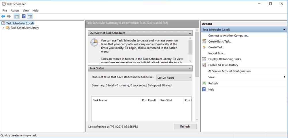 Hẹn giờ tắt máy theo lịch bằng Task Scheduler 2