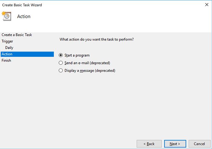 Hẹn giờ tắt máy theo lịch bằng Task Scheduler 6