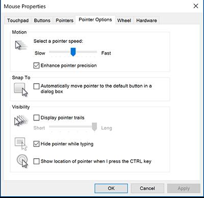 cách điều chỉnh tốc độ chuột máy tính trong Windows 10 hình 3