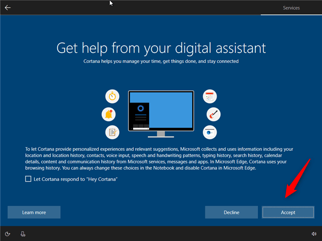 Hướng dẫn cách thiết lập lần đầu cài đặt Windows 10 12