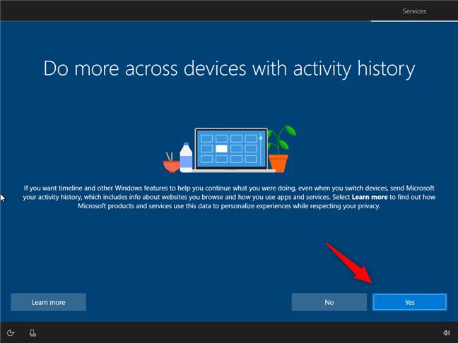 Hướng dẫn cách thiết lập lần đầu cài đặt Windows 10 9