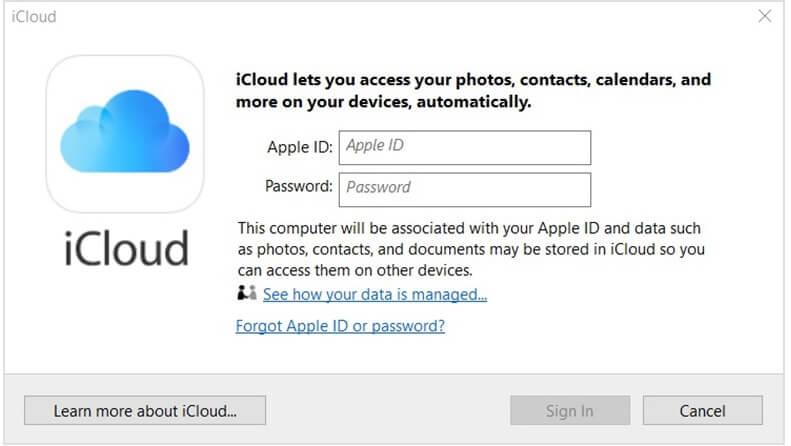 Hướng dẫn đăng ký tài khoản icloud bằng Windows hình 1