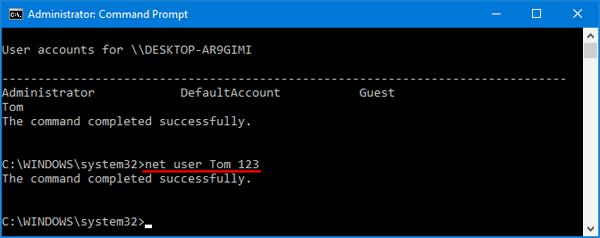Hướng dẫn thay đổi mật khẩu máy tính trên Windows 10 hình 10