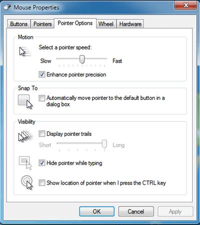 thay đổi tốc độ chuột máy tính trong Windows 7 hình 3