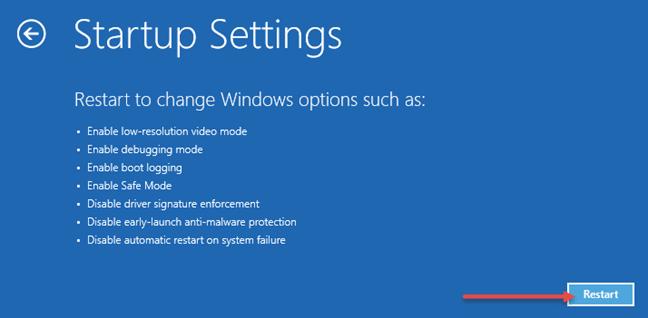 khởi động vào chế độ Safe Mode Windows 10 7