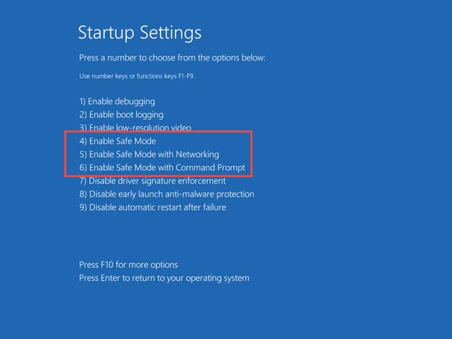 khởi động vào chế độ Safe Mode Windows 10 8