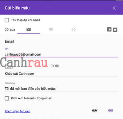 Hướng dẫn làm Bảng Khảo Sát bằng Google Form hình 6