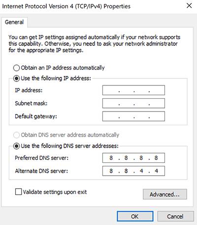 Lỗi cấu hình IP máy tính bị sai 5