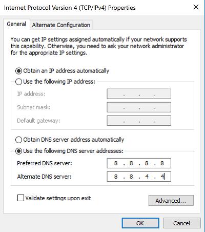 Lỗi DNS 1