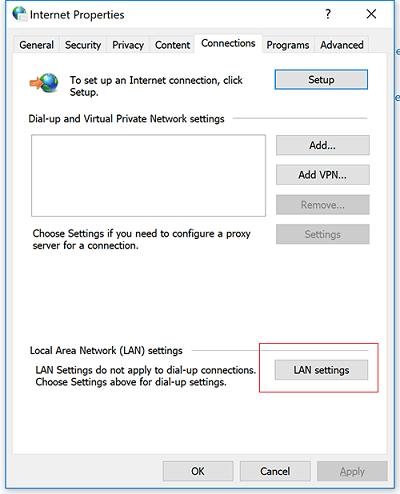 Lỗi Proxy Server bị thiết lập sai 3