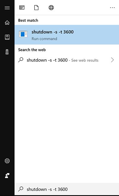 Sử dụng lệnh Run hẹn giờ tắt máy win 10 1