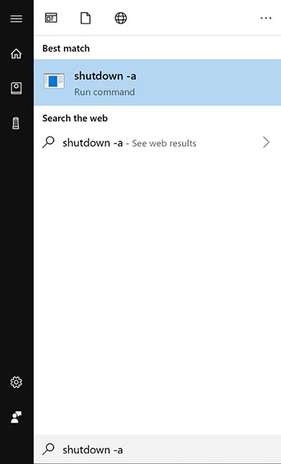 Sử dụng lệnh Run hẹn giờ tắt máy win 10 2