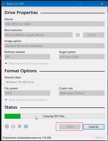 sử dụng Rufus 3.5 để cài đặt USB Boot Windows 10 4