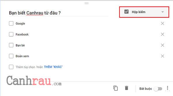 tạo Form Đăng Ký trên Google Biểu Mẫu hình 3
