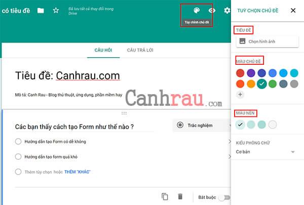 tạo Google Form chuyên nghiệp trong Google Drive hình 8