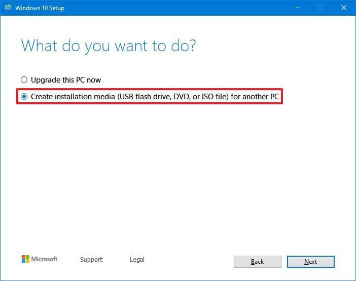 tạo usb boot Windows 10 bằng media creation tool hình 2