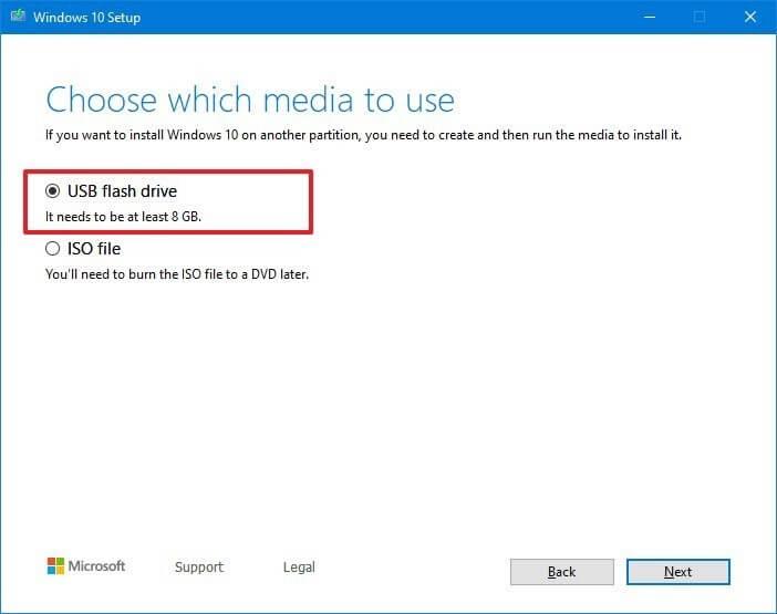 tạo usb boot Windows 10 bằng media creation tool hình 4