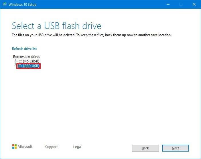 tạo usb boot Windows 10 bằng media creation tool hình 5